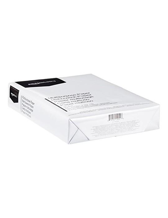 AmazonBasics Papel multiusos para impresora A4 80gsm, 1 paquete, 500 hojas, blanco