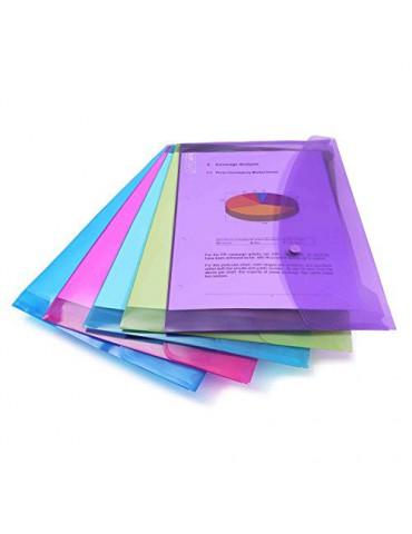 Rapesco Documentos - Carpeta portafolios A4+ horizontal, en varios colores traslúcidos, 5 unidades, polipropileno, foolscap