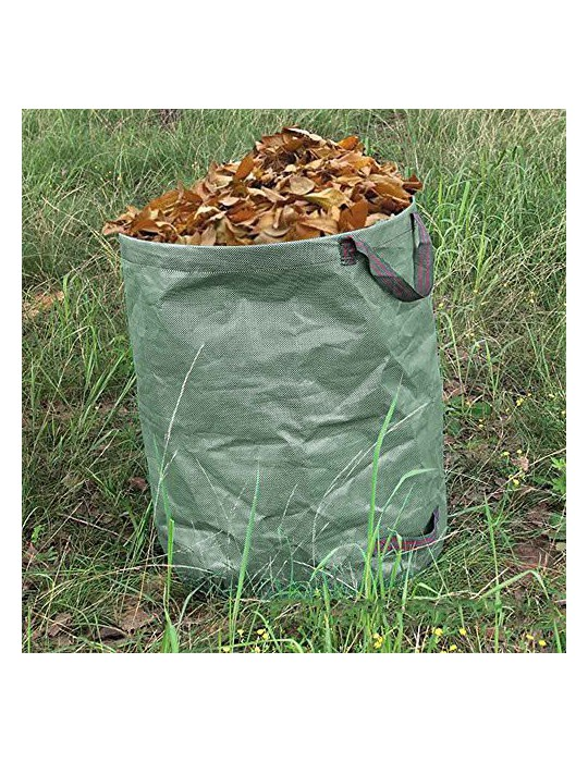 TIMESETL 3Pack Garden Bags 810 litros Pop-up Bolsa de jardinería con Asas para residuos de jardín Deja la Hierba