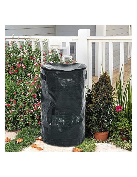 Bolsas De Hojas, Bolsas Reutilizables para Desechos De Jardín De 15/34 Galones con Asa Bolsas Impermeables Plegables Que Ahor