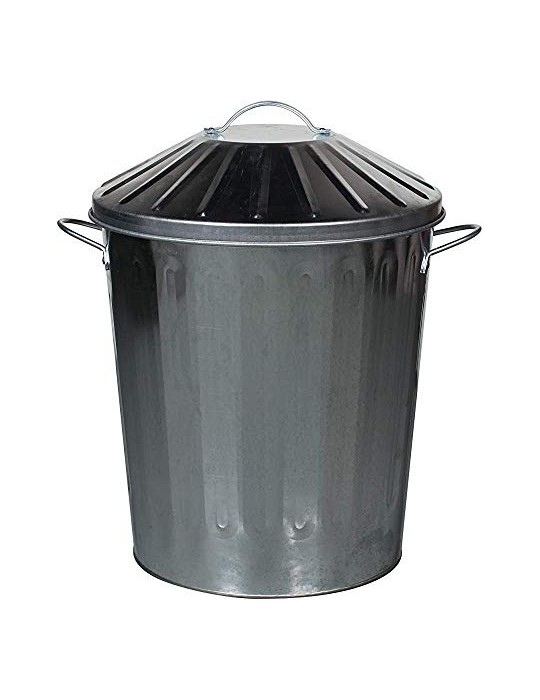 De metal contenedor de basura Armarios de huerta,Silver-125L